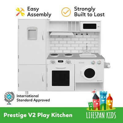 Play Wooden Kitchen Pretend Set Toy Cooking Home Cookware Prestige Lifespan Kids