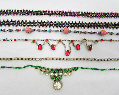 Deco Glass Bead Necklace Lot - some Czech - 1920s-30s