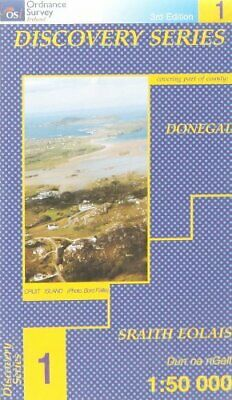 Donegal (NW) (Irish Discovery Maps ... by Ordnance Survey Irel Sheet map, folded