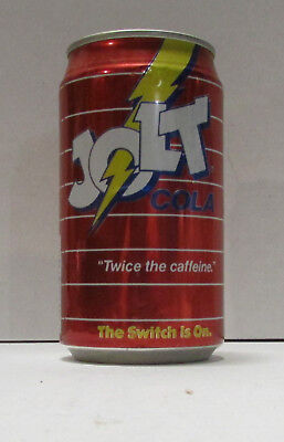 jolt cola twice the caffenie aluminum soda can #20