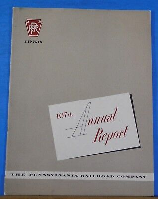 PRR Annual Report 1953 Pennsylvania Railroad Soft Cover 36 pages