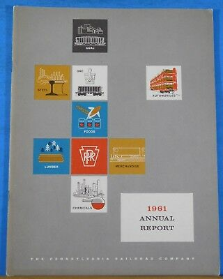 PRR Annual Report 1961 Pennsylvania Railroad Soft Cover 33 pages