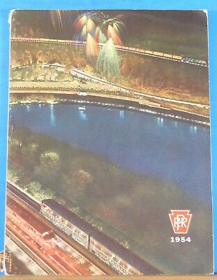 PRR Annual Report 1954 Pennsylvania Railroad Soft Cover 78 pages
