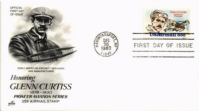 Dr Jim Stamps Us Glenn Curtiss Aviation Pioneer Fdc 1980