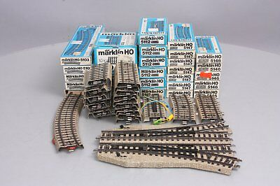 Marklin HO Scale Switches & Track Sections (30+)/Box