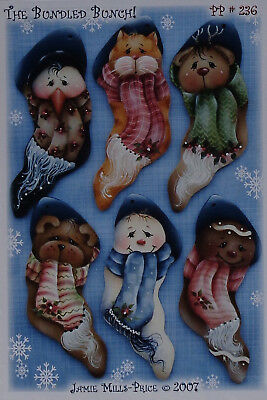 """Jamie Mills Price tole painting pattern  """"The Bundled Bunch"""""""
