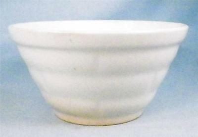 Vintage Nesting Mixing Bowl White Pottery Basketweave Pattern Small