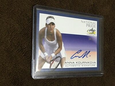 H 2017 Leaf Tennis National Pride Blue /15 Auto Anna Kournikova