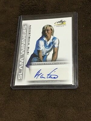H 2017 Leaf Tennis Slam Winners Auto Martina Navratilova