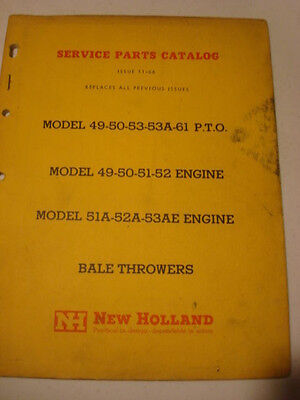 66 New Holland Model 49 50 53 53A 61 PTO Bale Thrower Service catalog manual