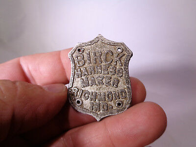 Western Horse Tack *harness Makers Plate*  Richmond Indiana