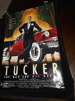 Tucker The Man And His Dream Jeff Bridges Original Rolled One Sheet Poster