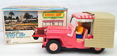 Rare Vintage Tonka 350 Battery Operated Pink Surrey Jeep AHI MIB Mint in Box