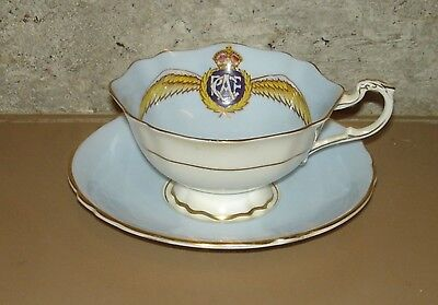 PARAGON CHINA Cup & Saucer Set RAF Royal Air Force Pastel Blue PATRIOTIC SERIES