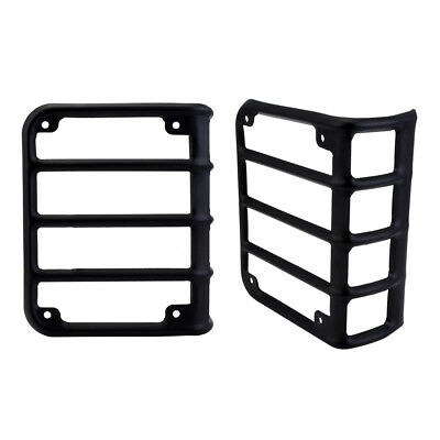 2pcs Tail Light Bracket Black Rear Protector Covers For Jeep Wrangler Jeep 07-16