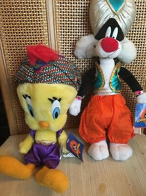 Sylvester And Tweety Fortune Teller Plush Set Rare NWT New Ace Looney Tunes