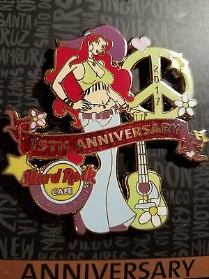 SAN FRANCISCO,Hard Rock Cafe Pin,15th Anniversary, Sexy Girl peace sign
