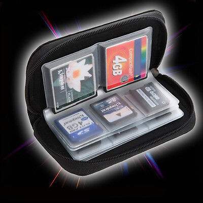 SDHC MMC CF Micro SD Memory Card Storage Pouch Case Holder Wallet CDSVX