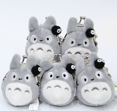 Anime Totoro Plush Card Bag Doll toy Coin Storage Purse Key Chain Portable