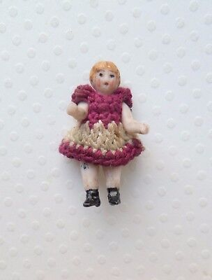 TINY ALL BISQUE CARL HORN DOLL c1915