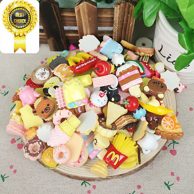 50PCS Fast food&Rilakkuma Popular Charms Dessert Kids Lovely Toy Gift Dulcet LOT