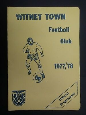 WITNEY TOWN v HARROW BOROUGH 1977 - 1978 (Southern League) football programme