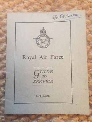 WW2 RAF Officers Guide To Service