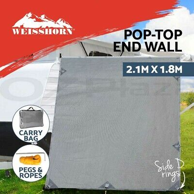 Pop Top Caravan Roll Out Awning Privacy Screen Sun Shade End Wall Side Extension