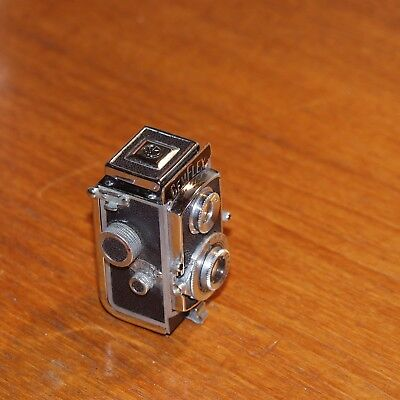 GEMFLEX II tiny subminiature TWIN-LENS REFLEX CAMERA case SHOWA Optical JAPAN