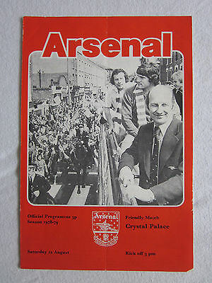 1978/79  Arsenal  v  Crystal Palace  Friendly