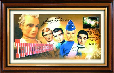 Thunderbirds First Day Cover - Signed by Gerry Anderson - Framed