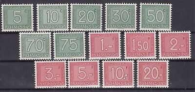 ♠ Luxembourg Taxe 1946 # 23/36 Y&t Serie Neuve ** / Mnh 27 €