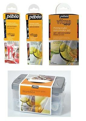 Pebeo Vitrea 160 Glass Painting Discovery Sets Water Based Colour Paint Sets