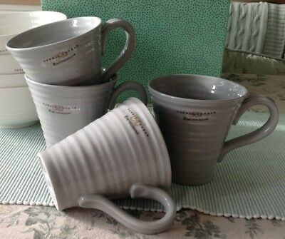 Sophie Conran For Portmeirion 4 x Mugs GREY New