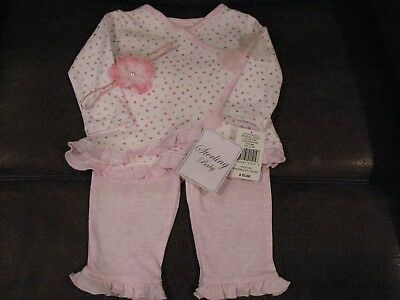 Gorgeous Boutique Sterling Baby Outfit & Free Headband For Reborn Girl New/tags