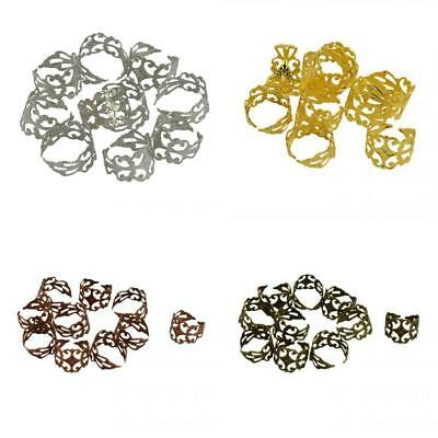 40 Pcs Brass Vintage Filigree Blank Ring Base Finding Adjustable Ring Base