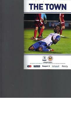 FA CUP PROGRAMME - ENFIELD TOWN v PHOENIX SPORTS - 30 SEPTEMBER 2017