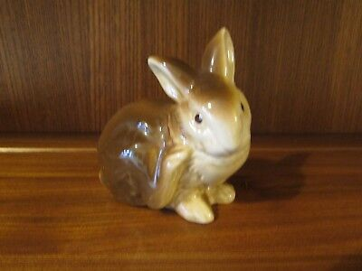Vintage Poole Pottery Scratching Bunny Rabbit. 10cms tall.