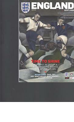 PROGRAMME - ENGLAND v SCOTLAND UNDER 21 (AT MIDDLESBROUGH) 6 OCTOBER 2017