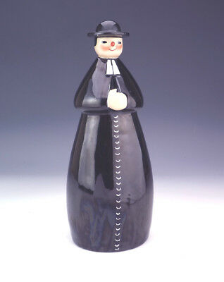 Antique Robj French Porcelain - Priest Formed Novelty Decanter - Art Deco!