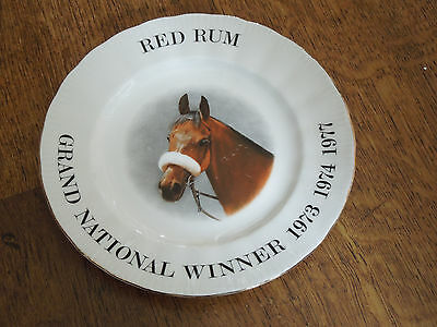 Rare Collectable Vintage Royal Doulton Red Rum Grand National Horse Racing Plate