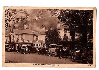 Old Postcard Burford Bridge Hotel Boxhill Surrey Loads Of Old Card