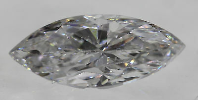 Certified 0.42 Carat D VS2 Marquise Enhanced Natural Loose Diamond 7.61x3.22mm