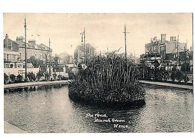 Old Postcard The Pond Starch Green Hammersmith London Pm 1912