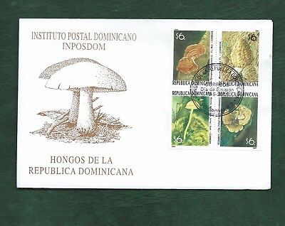 Dominican Republic 2001 Mushrooms and Fungi set on illustrated unaddressed FDC