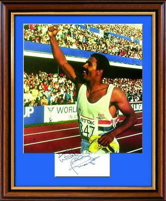 Daley Thompson Signed Photograph - Framed