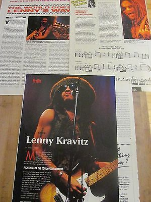 Lenny Kravitz, Lot of THREE Full and Two Page Vintage Clippings