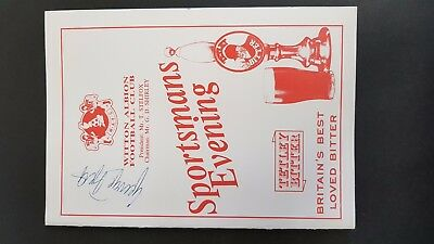 Witton Albion FC Sportsmans Evening Menu Signed by George Best