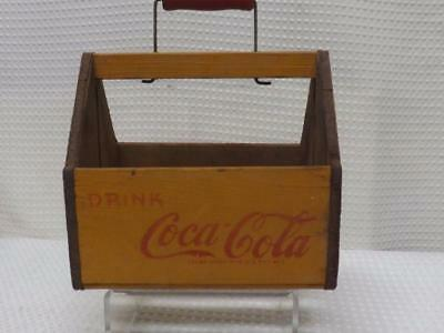 Vtg Coca Cola Wings Wood Caddy Carrier WWII Era