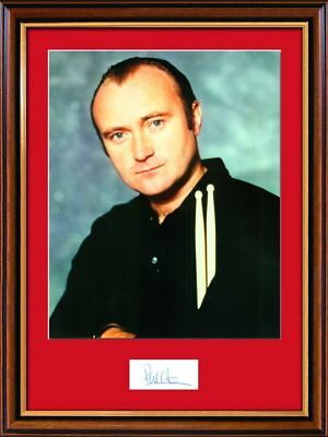 Phil Collins Signed Photograph - Framed